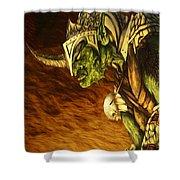 Bolg The Goblin King Shower Curtain by Curtiss Shaffer