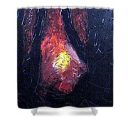 Bonefire Shower Curtain by Sergey Bezhinets