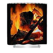 Bonfire  Shower Curtain by Chris Berry