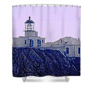 Bonita Lighthouse Shower Curtain by Kathleen Struckle