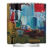 Boston City Collage 3 Shower Curtain by Corporate Art Task Force