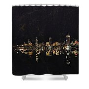 Boston City Skyline 2 Shower Curtain by Corporate Art Task Force