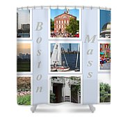 Boston Collage Shower Curtain by Barbara McDevitt