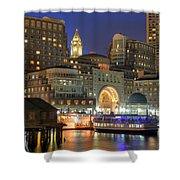 Boston Harbor Party Shower Curtain by Joann Vitali