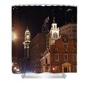 Boston History Shower Curtain by Joann Vitali