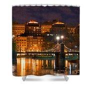 Boston Lagoon Bridge 2 Shower Curtain by Joann Vitali