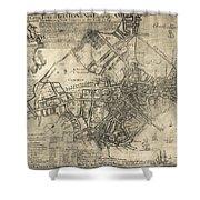 BOSTON of BRITISH DOMINION MAP  1769 Shower Curtain by Daniel Hagerman
