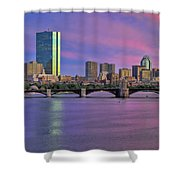 Boston Pastel Sunset Shower Curtain by Joann Vitali