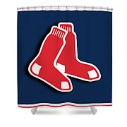 Boston Red Socks Shower Curtain by Tony Rubino