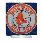 Boston Red Sox Shower Curtain by Dan Sproul