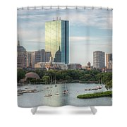 Boston Skyline I Shower Curtain by Clarence Holmes