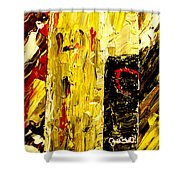 Bottle Of Wine  Shower Curtain by Mark Moore
