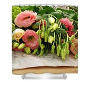 Bouquet In The Making Shower Curtain by Lainie Wrightson