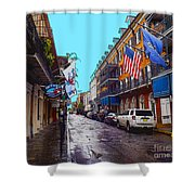 Bourbon Street Shower Curtain by Carey Chen