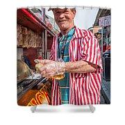Bourbon Street - Lucky Dog And A Smile Shower Curtain by Steve Harrington