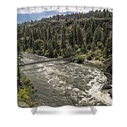 Bowl And Pitcher Area - Riverside State Park - Spokane Washington Shower Curtain by Daniel Hagerman