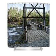 Bowl And Pitcher Bridge - Spokane Washington Shower Curtain by Daniel Hagerman