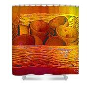 Bowls In Basket Moderne Shower Curtain by RC deWinter