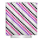 Boxed Stripe Shower Curtain by Louisa Hereford