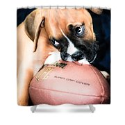 Boxer Puppy Cuteness Shower Curtain by Peggy  Franz