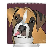 Boxer Puppy Pet Portrait  Shower Curtain by Robyn Saunders