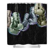Boxing Gloves Shower Curtain by Tony Rubino