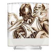 Boxout Shower Curtain by Dallas Roquemore