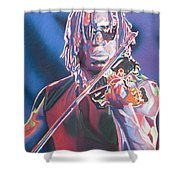 Boyd Tinsley Colorful Full Band Series Shower Curtain by Joshua Morton