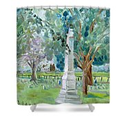 Brave And Noble Shower Curtain by Susan E Jones
