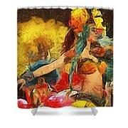 Brazilian Carnival Shower Curtain by Ayse Deniz
