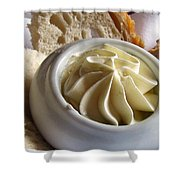 Bread And Butter Shower Curtain by Jennifer Wheatley Wolf