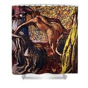 Breakfast after the Bath Le Petit Dejeuner apres le Bain Shower Curtain by Edgar Degas