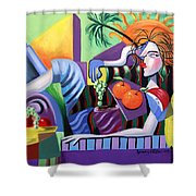 Breakfast At Tiffanie's  Shower Curtain by Anthony Falbo