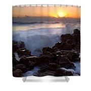 Breaking Dawn Shower Curtain by Mike  Dawson