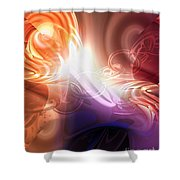 Breakthrough Shower Curtain by Mo T