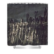 Breakwater In Jersey Shower Curtain by Victor Hugo