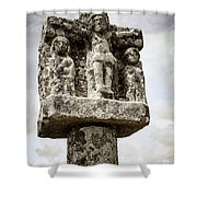 Breton Stone Cross Shower Curtain by Elena Elisseeva