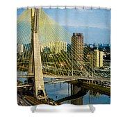 Bridge In Sao Paulo Shower Curtain by Daniel Precht