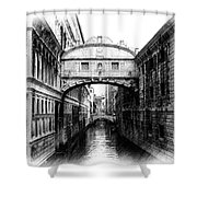 Bridge Of Sighs Pencil Shower Curtain by Jenny Hudson