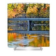 Bridges Of Madison County Shower Curtain by Frozen in Time Fine Art Photography