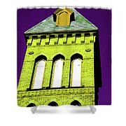 Bright Cross Tower Shower Curtain by Karol  Livote