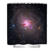 Bright Galaxy Centaurus A Shower Curtain by Paul Fearn