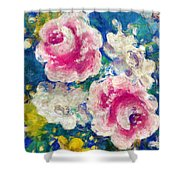 Brightly Floral Shower Curtain by Susan Leggett