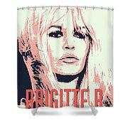 Brigitte B Shower Curtain by Chungkong Art
