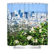Brisbane Cbd Shower Curtain by Peta Thames