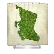British Columbia Grass Map Shower Curtain by Aged Pixel