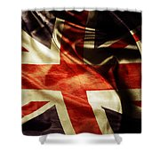British Flag  Shower Curtain by Les Cunliffe