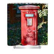 British Mail Box Shower Curtain by Paul Ward