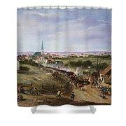 BRITISH RETREAT, 1775 Shower Curtain by Granger