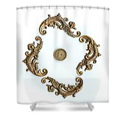British Shilling Original Color  Shower Curtain by Joseph Baril